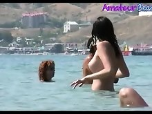 Sexy Random Amateurs Nudits Beach Voyeur Video