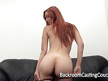 Incredible Redhead Anal & Creampie Casting